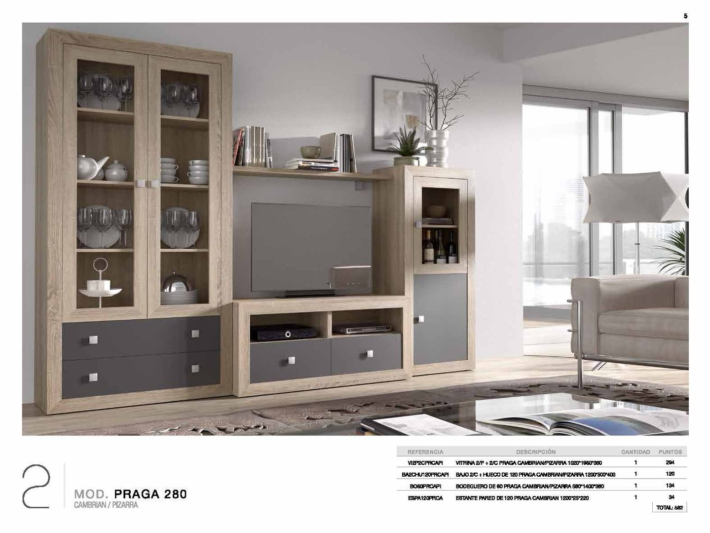 Praga Cambrian & Grey Collection (4 Pieces)