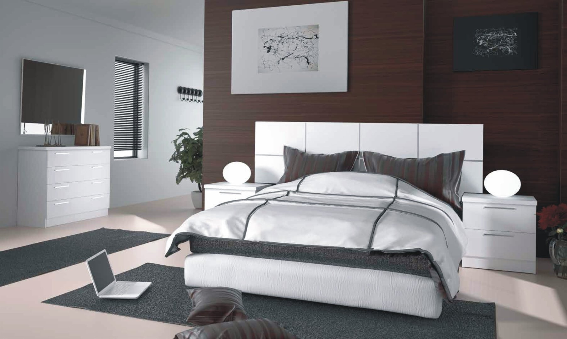 Grecia White Bedroom Collection (5 Pieces)