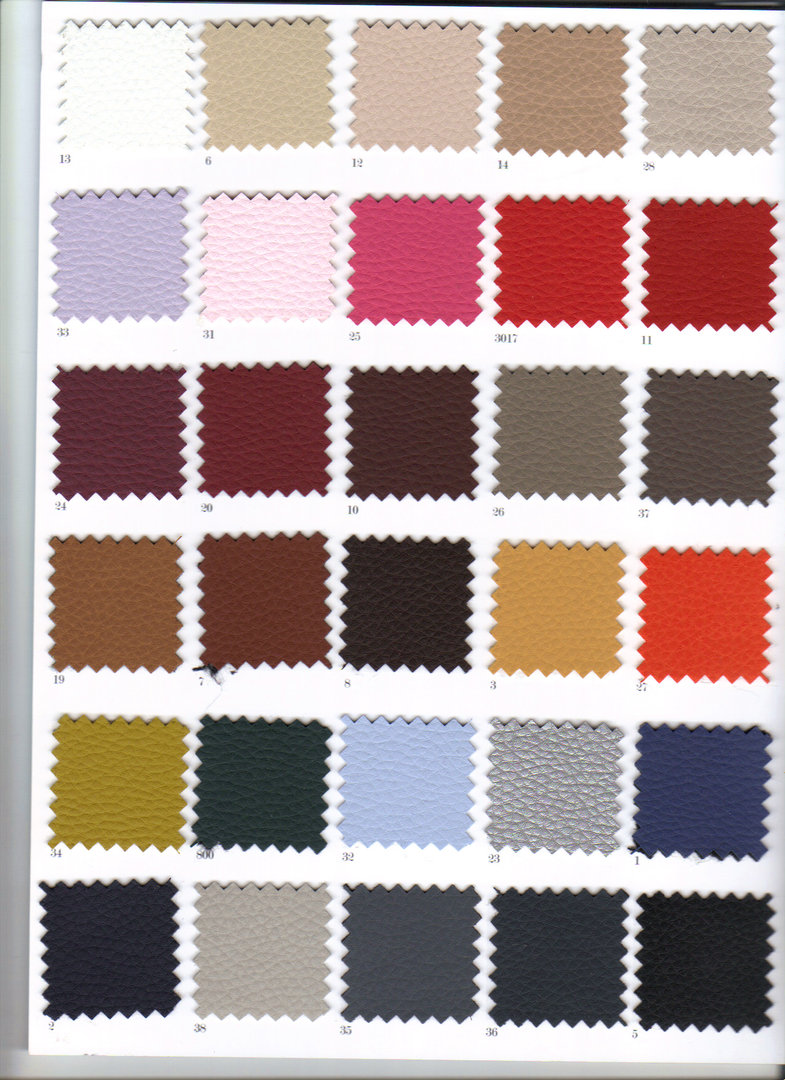Leather Colour Options A