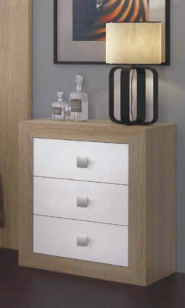Suiza Bedside Cabinet Cambrian & White