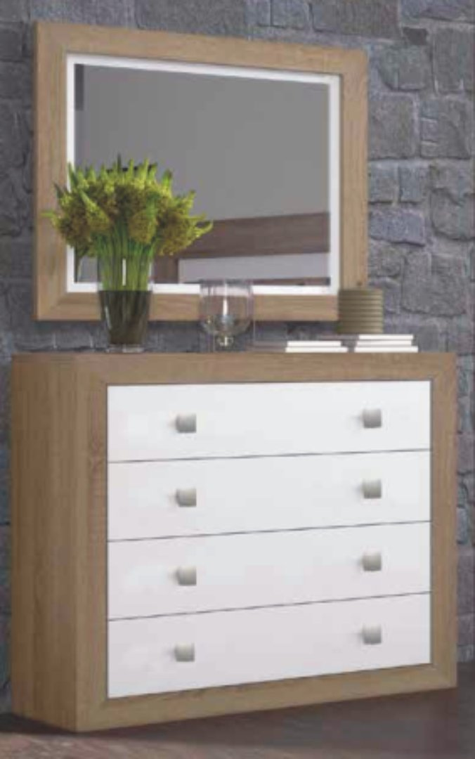 Suiza Chest of 4 Drawers Cambrian & White
