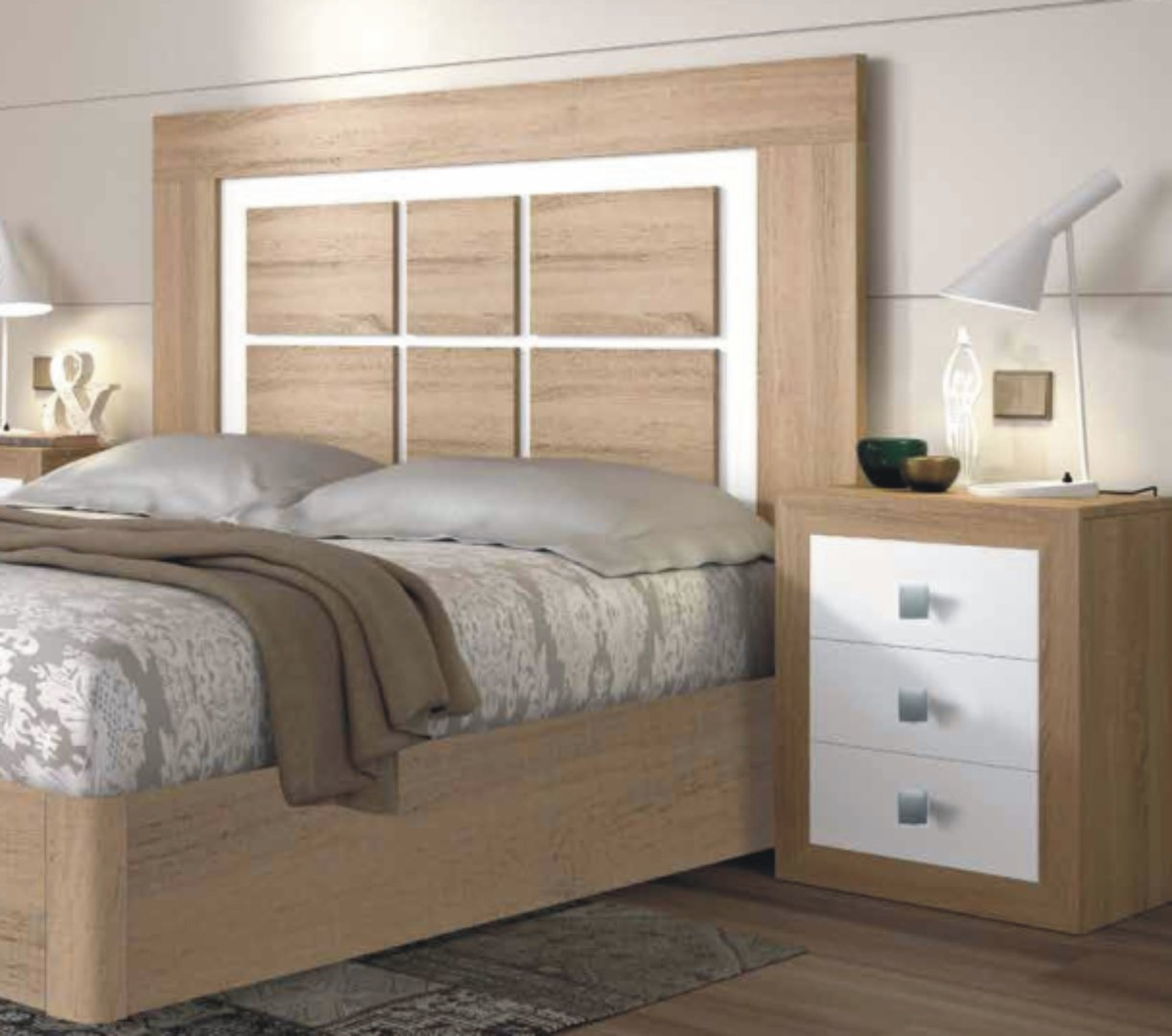 Suiza Range Moscu Headboard Cambrian & White