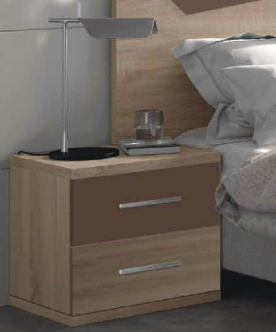 Italia Bedside Cabinet Cambrian & Chocolate