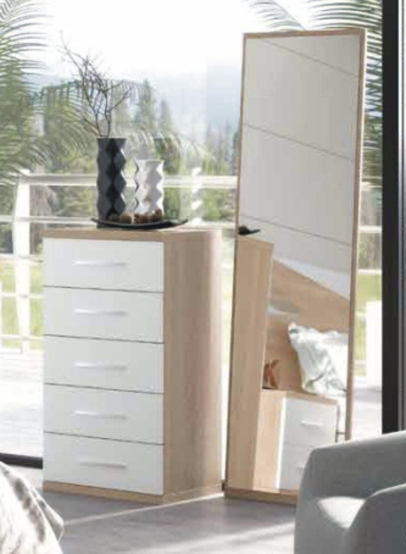 Italia Tall Chest Cambrian & White