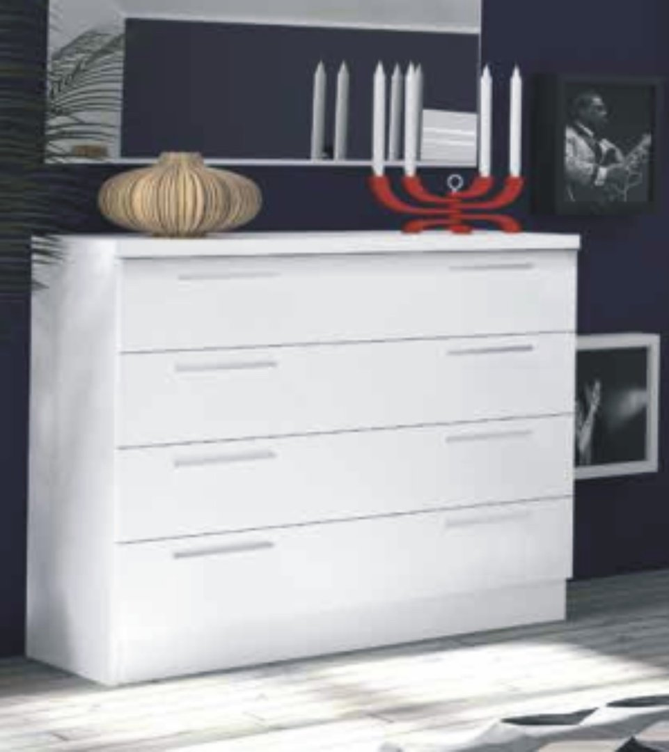 Grecia 4 Drawer Chest White