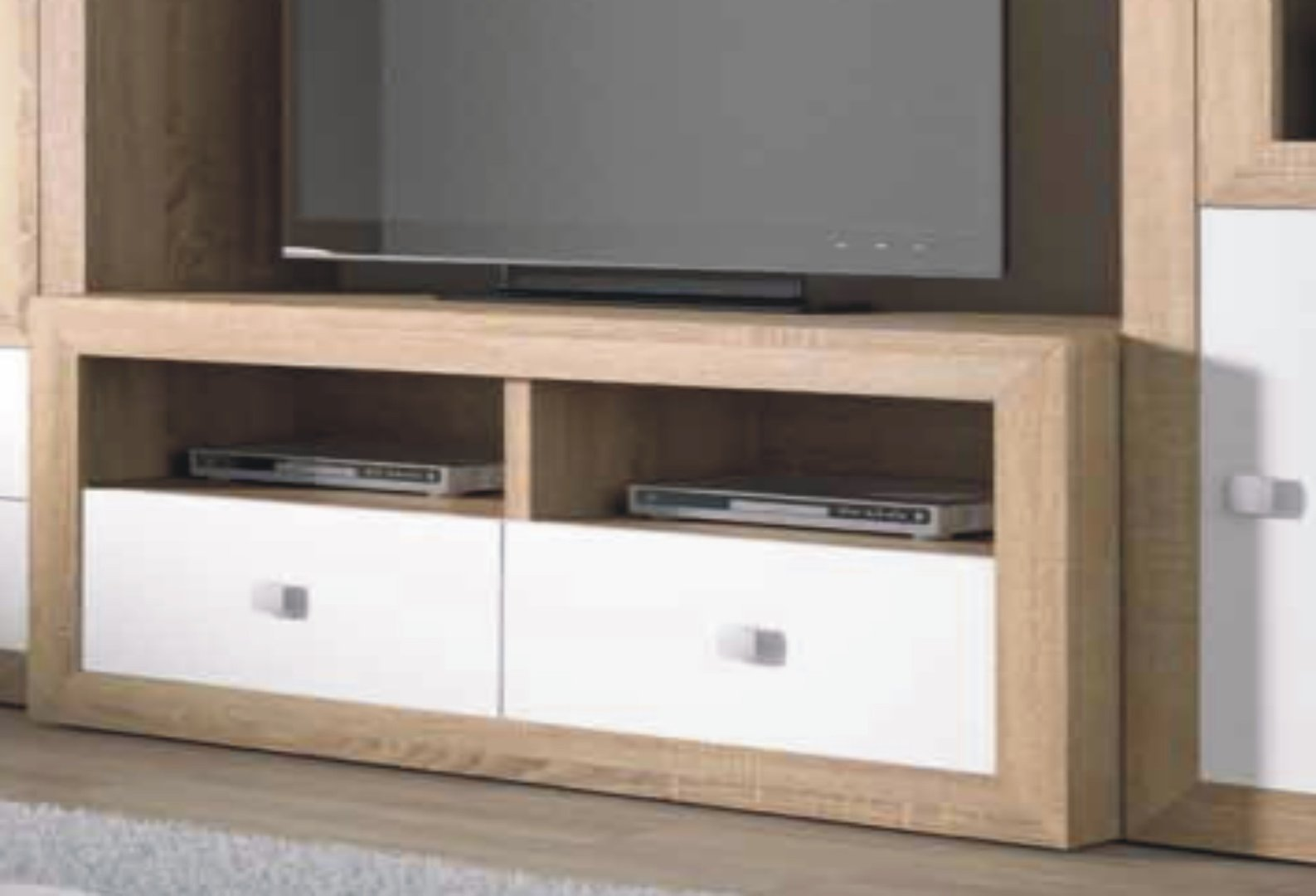 Praga TV Unit 120cm Cambrian & White