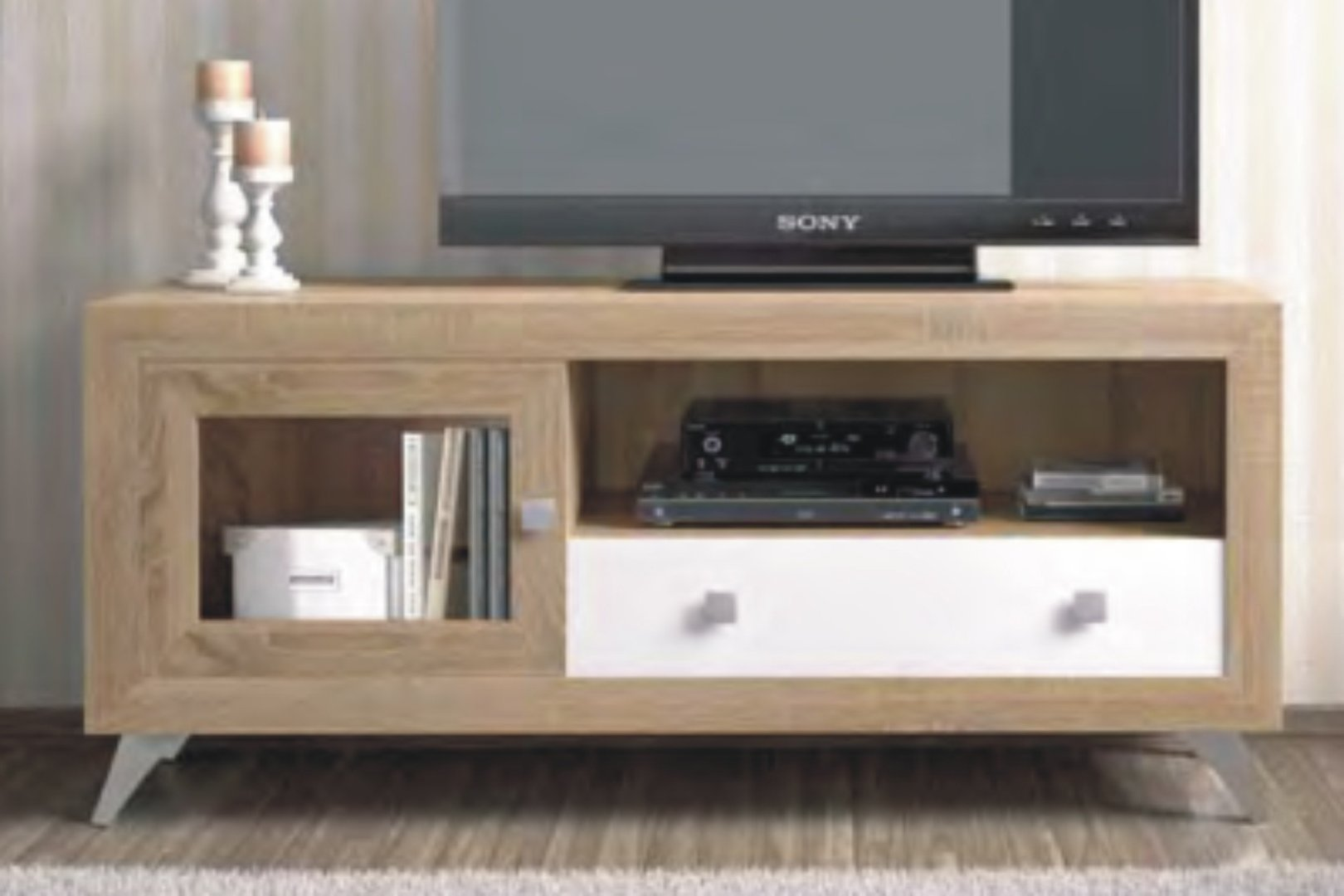 Praga TV Unit 140cm Cambrian & White