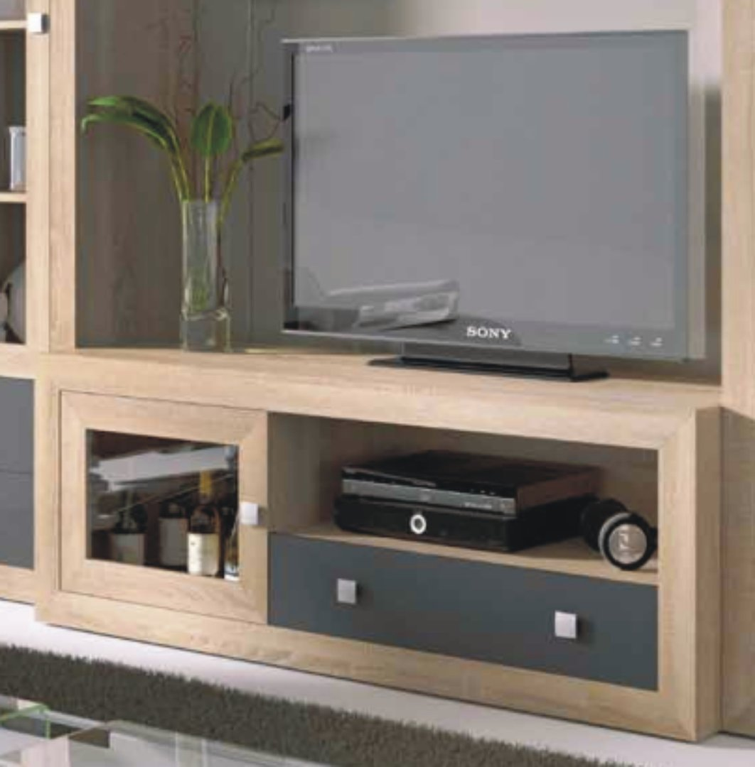 Praga TV Unit 140cm Cambrian & Grey