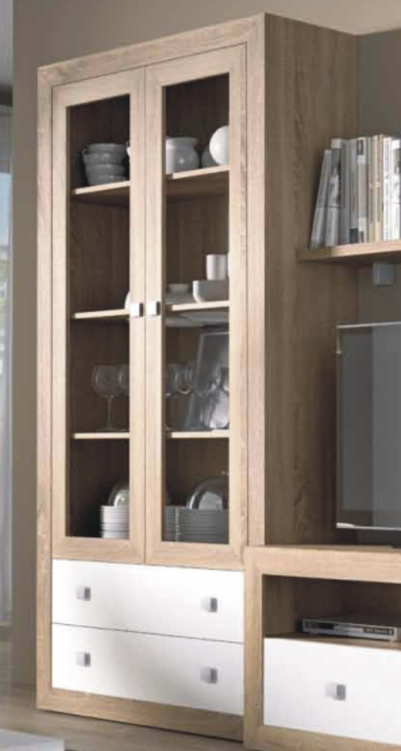 Praga Large Glazed Bookcase