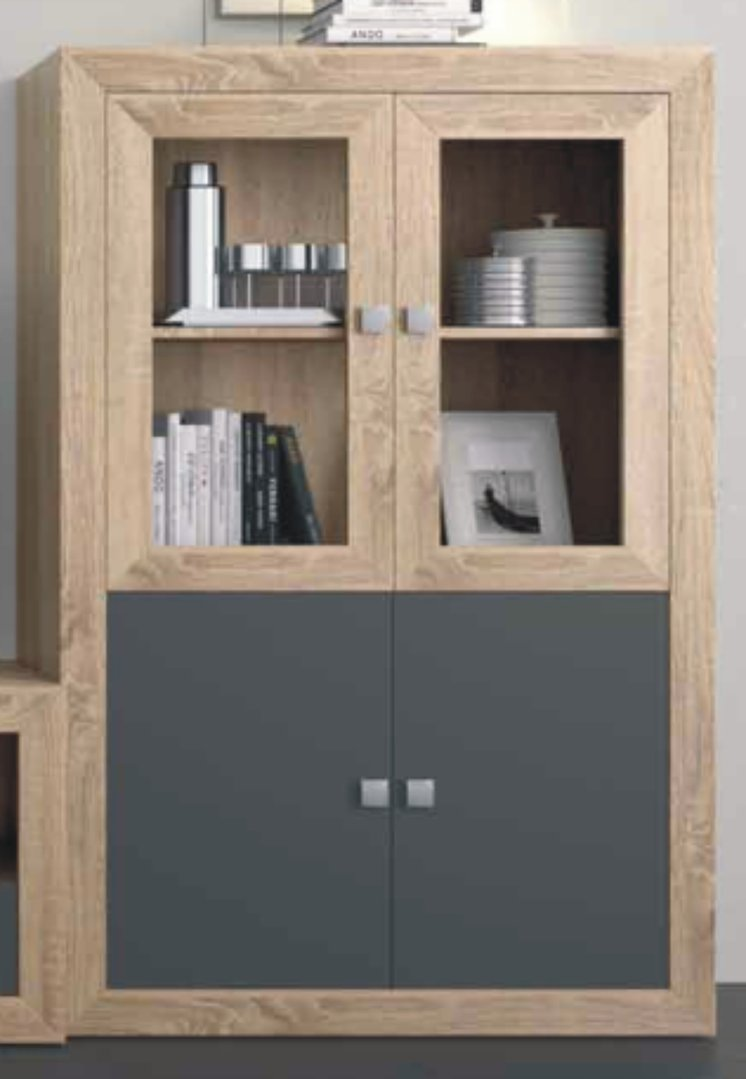 Praga Large Drinks Cabinet Cambrian & Grey