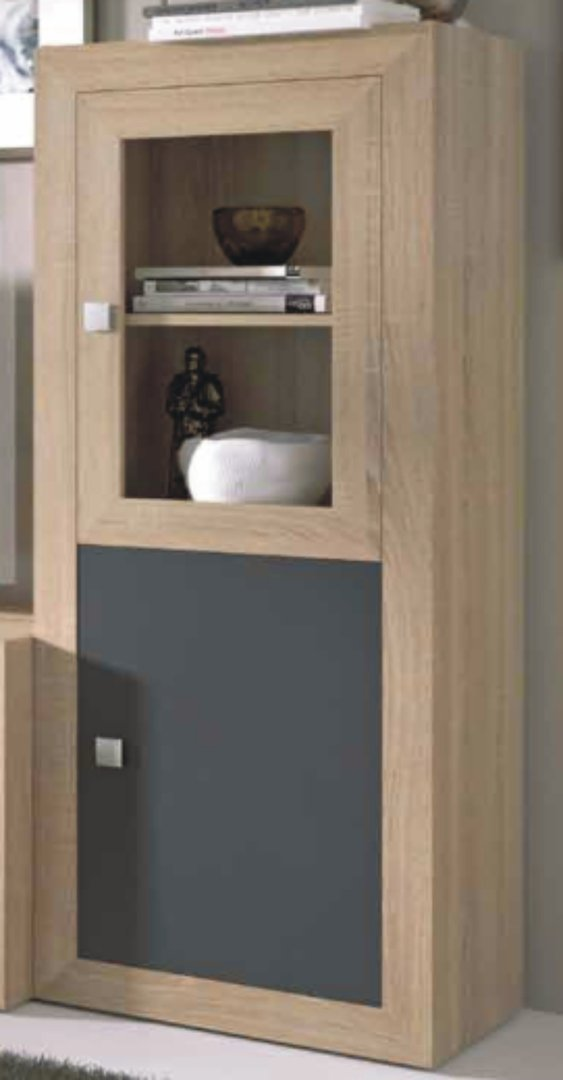 Praga Small Drinks Cabinet Cambrian & Grey