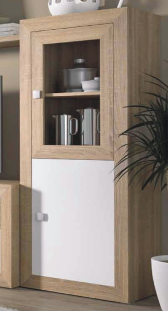 Praga Small Drinks Cabinet Cambrian & White