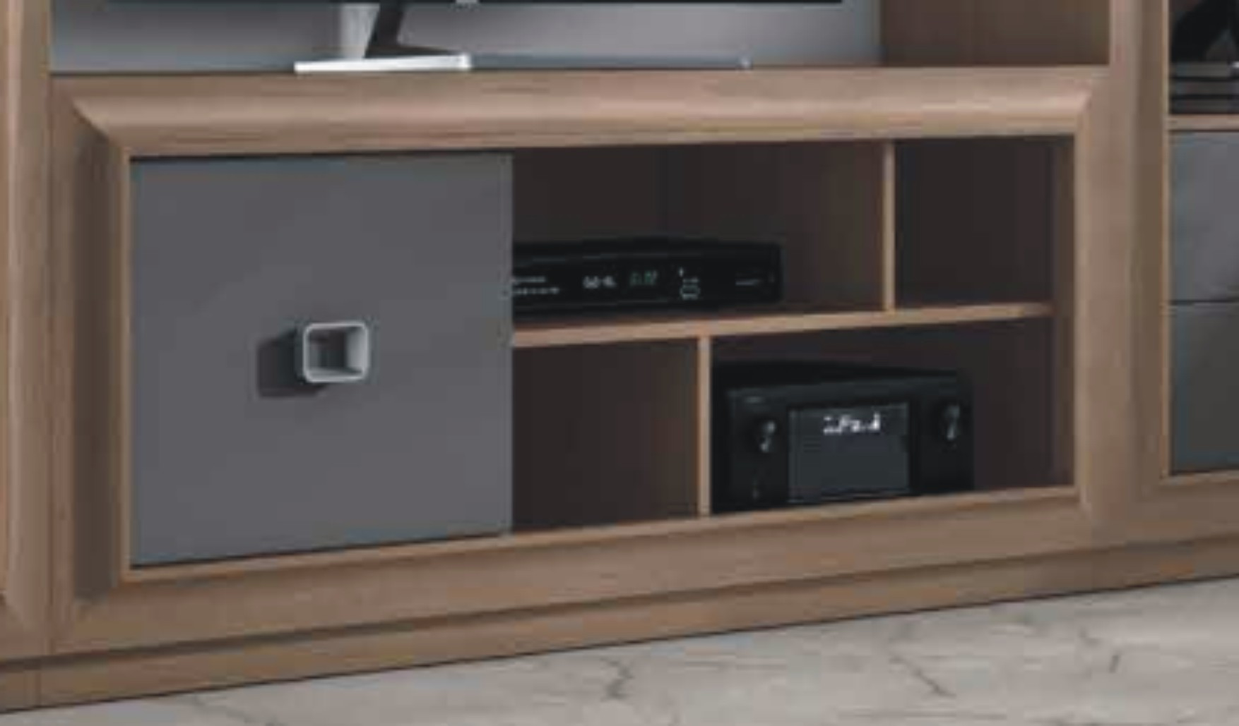Mito 140cm TV Unit 1 Door Victoria & Silver