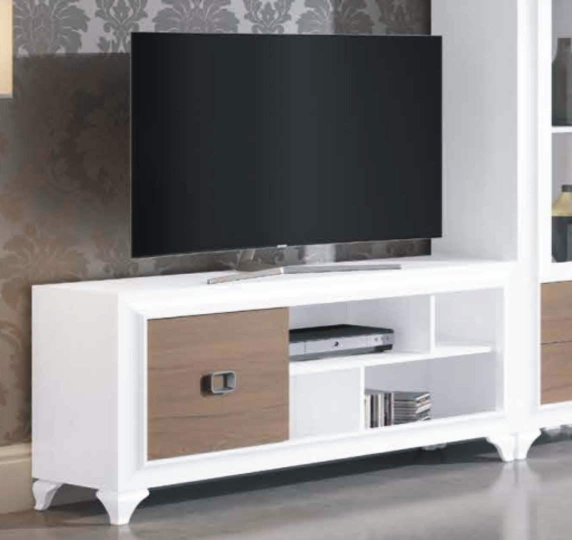 Mito 140cm TV Unit 1 Door White & Victoria