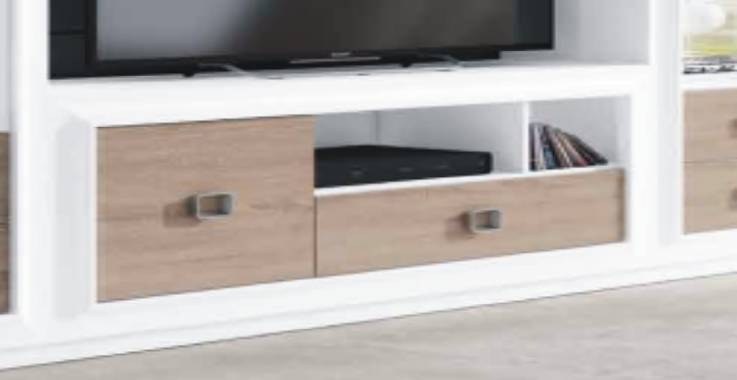 Mito 140cm TV Unit 1+1 White & Cambrian